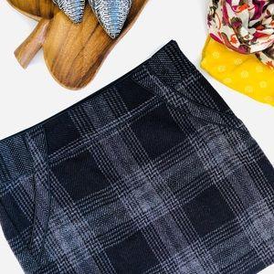 LOFT Wool blend plaid mini skirt 6 Small